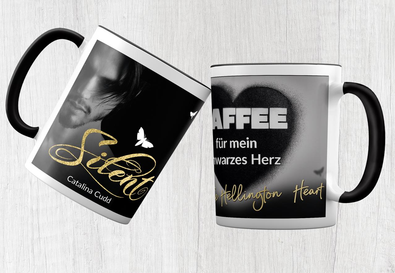 Kayenne Verlag Tasse Silent Schwarzes Herz